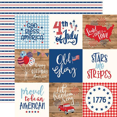 America 4x4 Journaling Cards