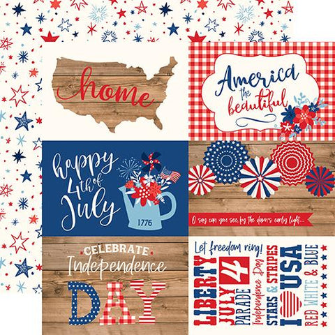 America 4x6 Journaling Cards