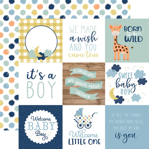 Baby Boy 4x4 Journaling Cards