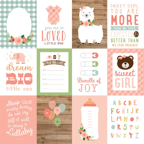Baby Girl 3x4 Journaling Cards