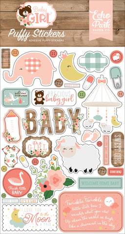Baby Girl Puffy Stickers