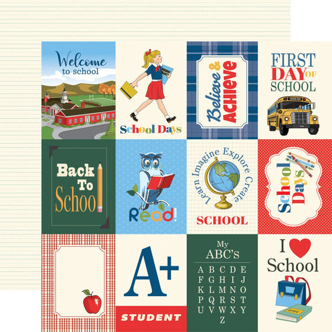 School Days 3x4 Journaling Cards