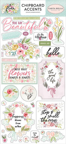 Flora Chipboard Accents