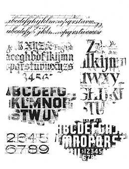 Tim Holtz Cling Stamps Faded Type