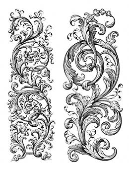 Tim Holtz Cling Stamps Baroque