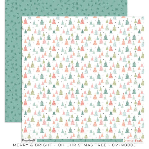 Merry & Bright Oh Christmas Tree Paper