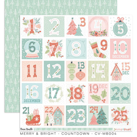 Merry & Bright Countdown Paper