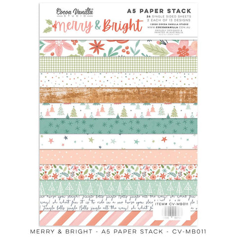 Merry & Bright A5 Paper Stack