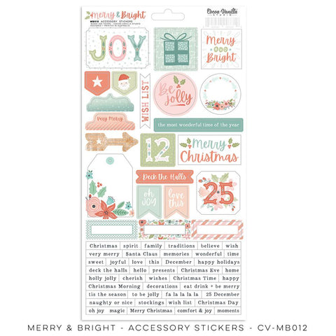 Merry & Bright Accessory Stickers