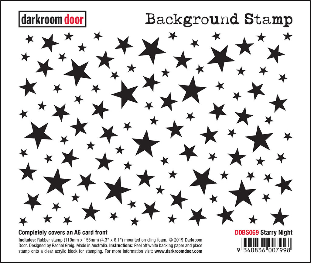 Darkroom Door Background Stamp Starry Night