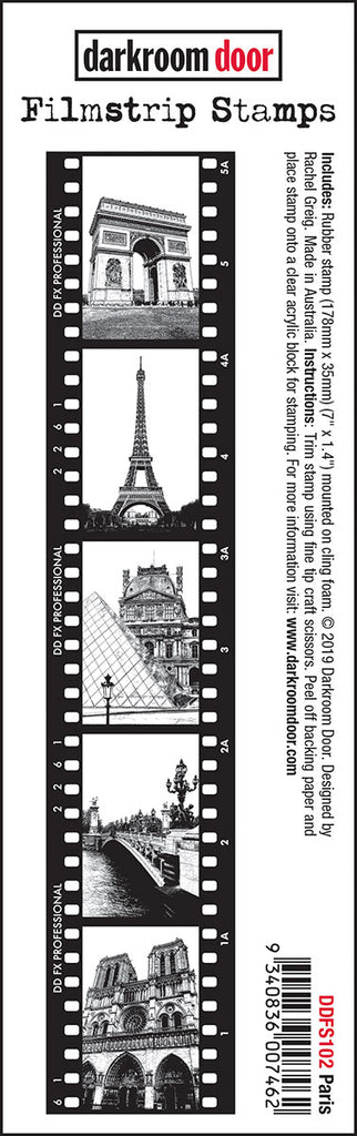 Darkroom Door Filmstrip Stamp Paris