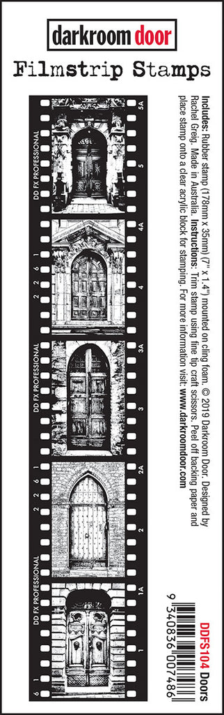Darkroom Door Filmstrip Stamps Doors