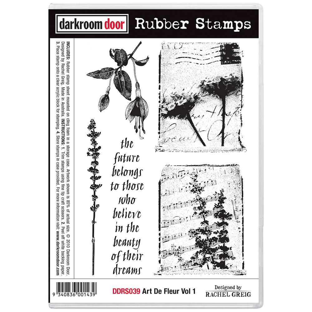 Darkroom Door Rubber Stamp Set Art De Fleur Vol 1