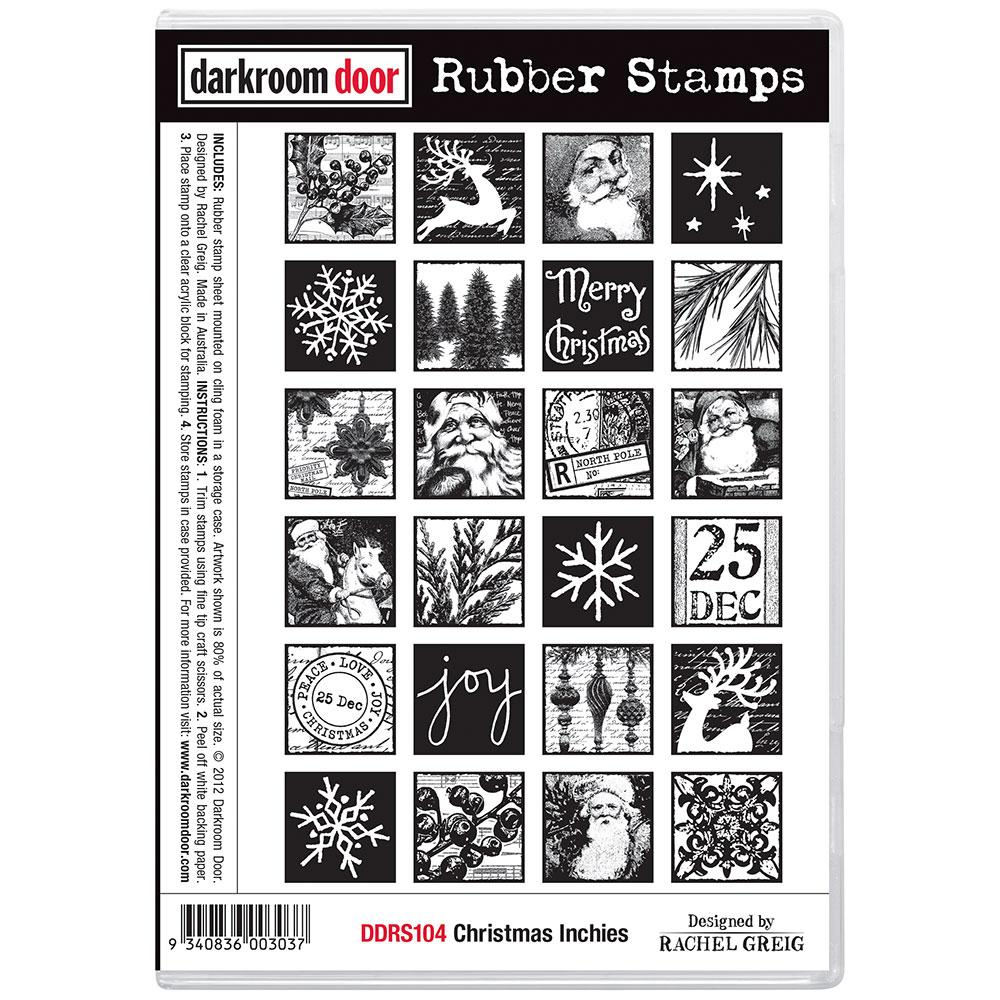 Darkroom Door Rubber Stamp Set Christmas Inchies