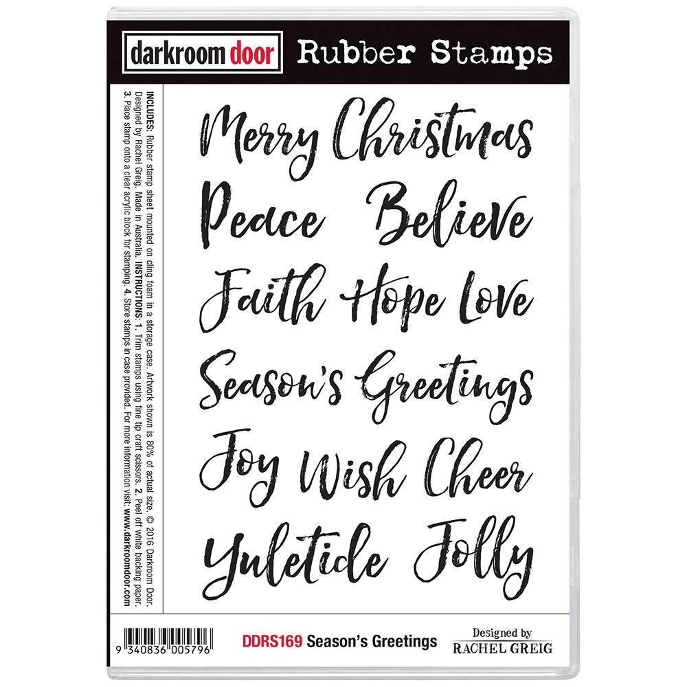 Darkroom Door Rubber Stamp Set Season's Greetings
