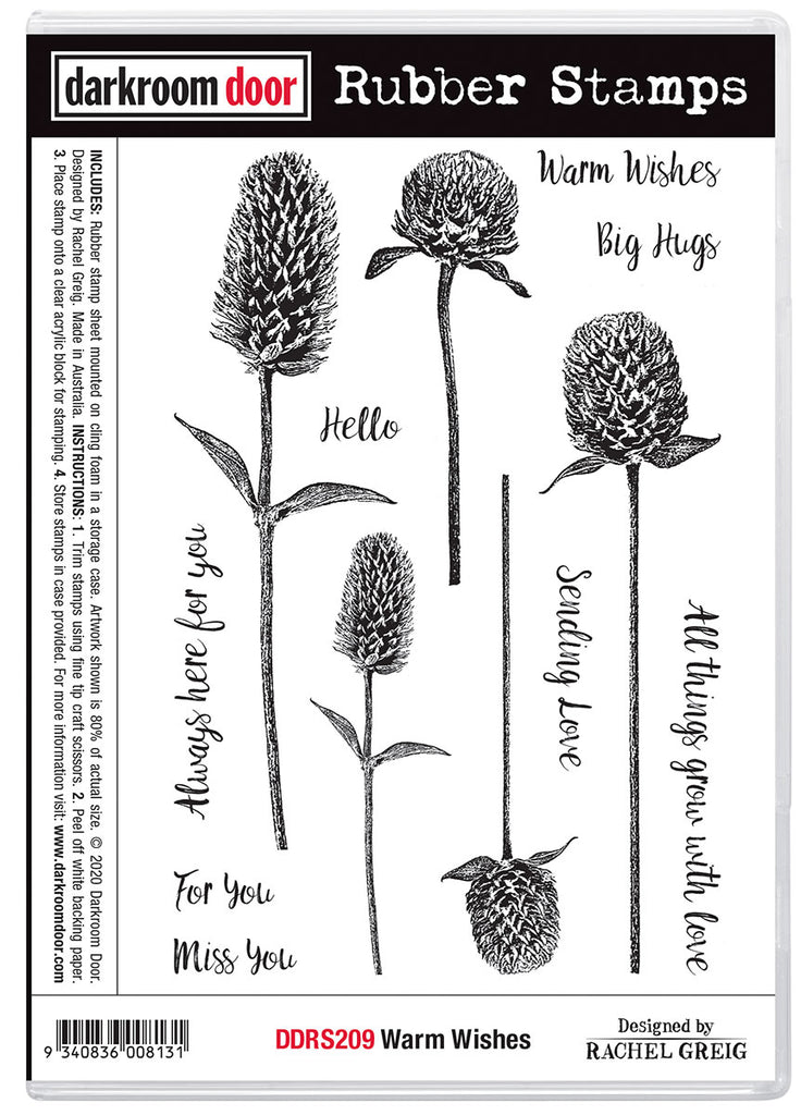 Darkroom Door Rubber Stamp Set Warm Wishes