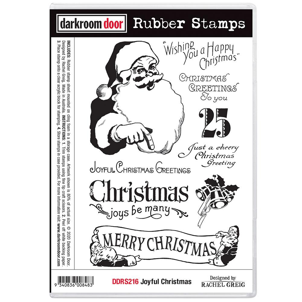 Darkroom Door Rubber Stamp Set Joyful Christmas