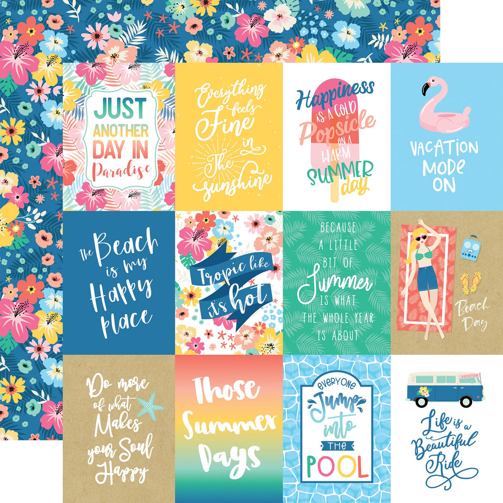 Dive Into Summer 3x4 Journaling Cards