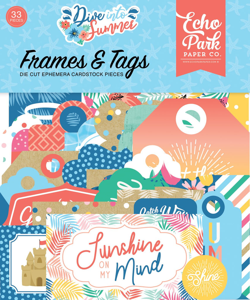 Dive Into Summer Frames & Tags