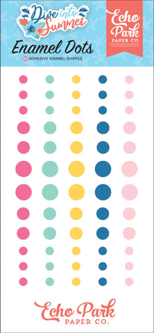Dive Into Summer Enamel Dots