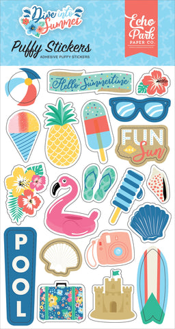 Dive Into Summer Puffy Stickers