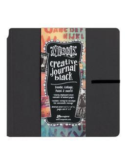 Dylusions Square Journal - Black