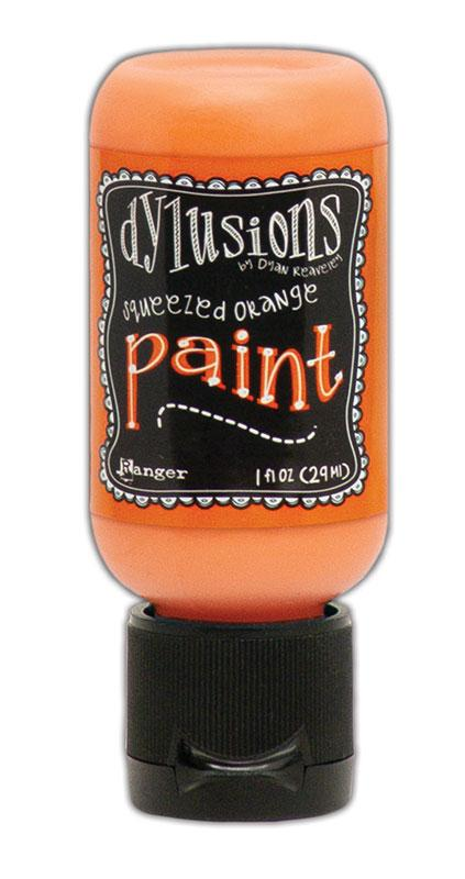 Dylusions Paint Flip Cap Squeezed Orange