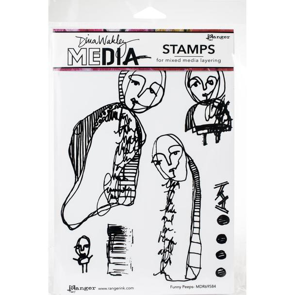 Dina Wakley Cling Stamp Funny Peeps