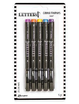 Letter It Coloured Fineliner Pens - Resort 5pk
