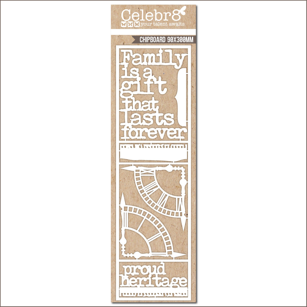Celebr8 Chipboard - Family Is A Gift