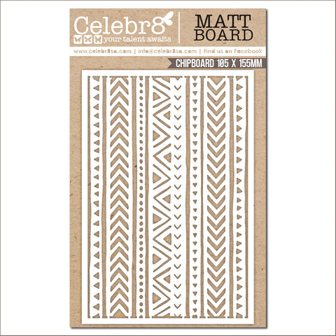 Celebr8 Chipboard - Ethnic Borders