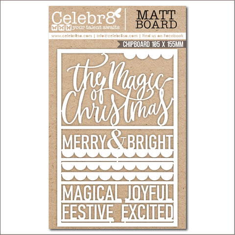 Celebr8 Chipboard - Tis the Season Title & Mini Words