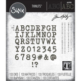 Sizzix Thinlits Dies by Tim Holtz Alphanumeric Tiny Type Upper