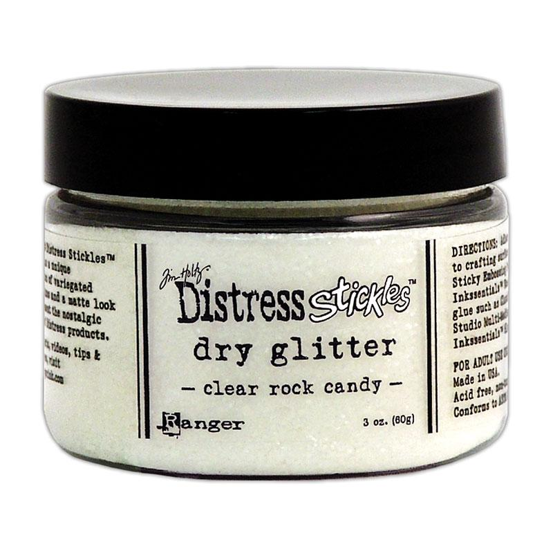 Tim Holtz Distress Stickles Dry Glitter Clear Rock Candy