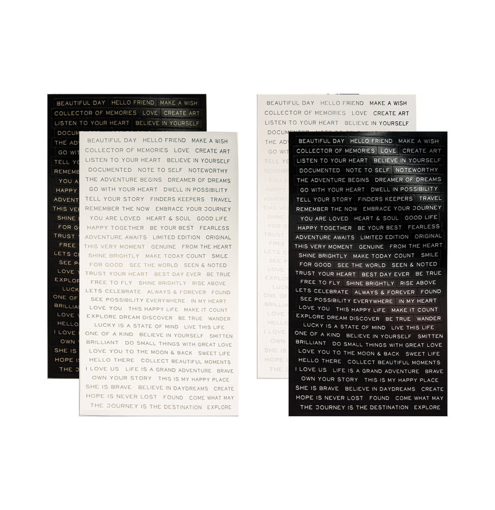 Tim Holtz Idea-ology Metallic Stickers Quotations