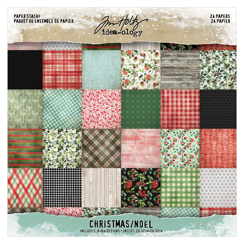 Tim Holtz Idea-ology 2020 - 8x8 Paper Stash Christmas
