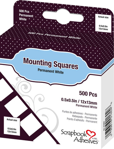 3L Mounting Squares Permanent White