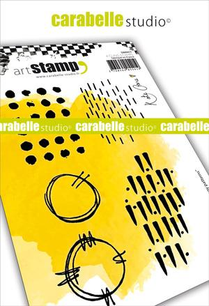 Carabelle Studio - Cling Stamp Grungy patterns