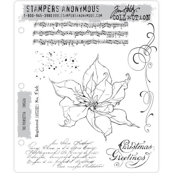 Tim Holtz Cling Stamps The Poinsettia
