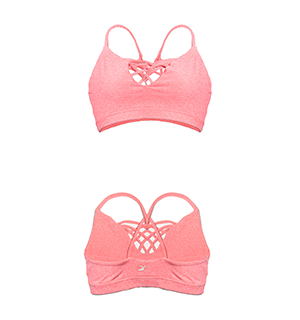 Glyder Caged Love Bra - Heather Sugar Coral
