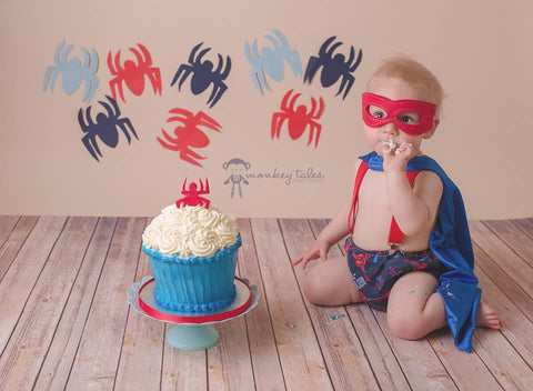 Spider baby cake smash outfit