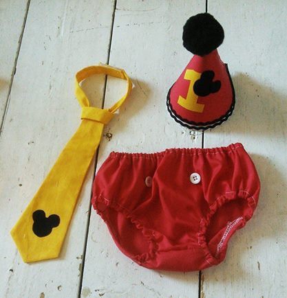 Boys Mickey Mouse Cake Smash Set - age 12-18 months