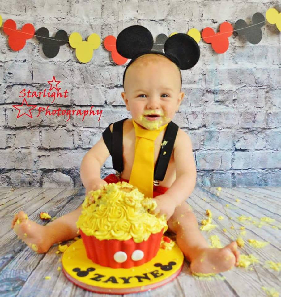 First Birthday Boys Mickey Mouse Cake Smash Outfit