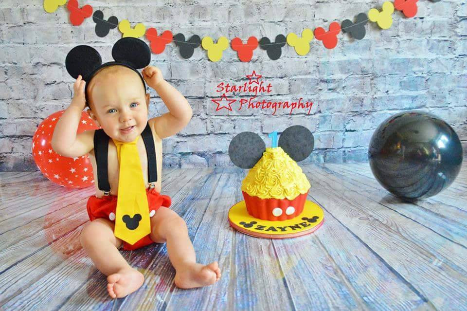 Mickey Mouse Smash Cake: Boys Mickey Mouse Cake Smash Set
