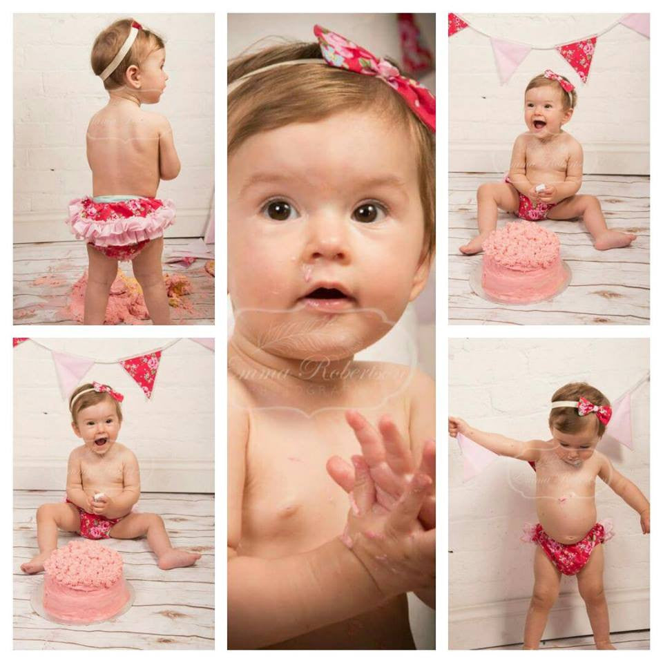 Girls Cake Smash Ruffle Pants