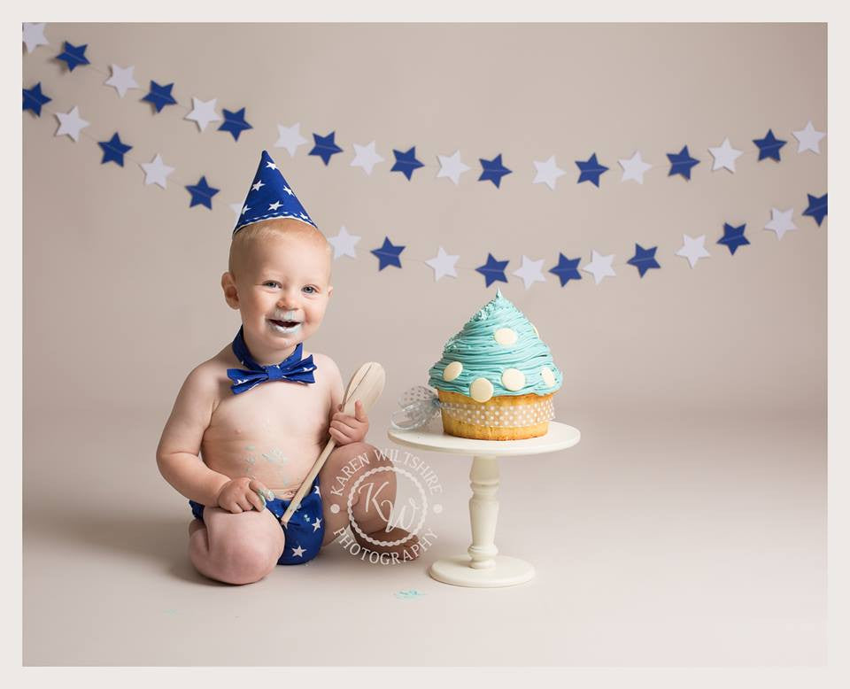 Boys Blue Cake Smash Outfit