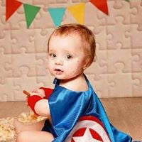 Captain Super Hero Set, Add your one Initial - Cake Smash - First Birthday -12-24 mths