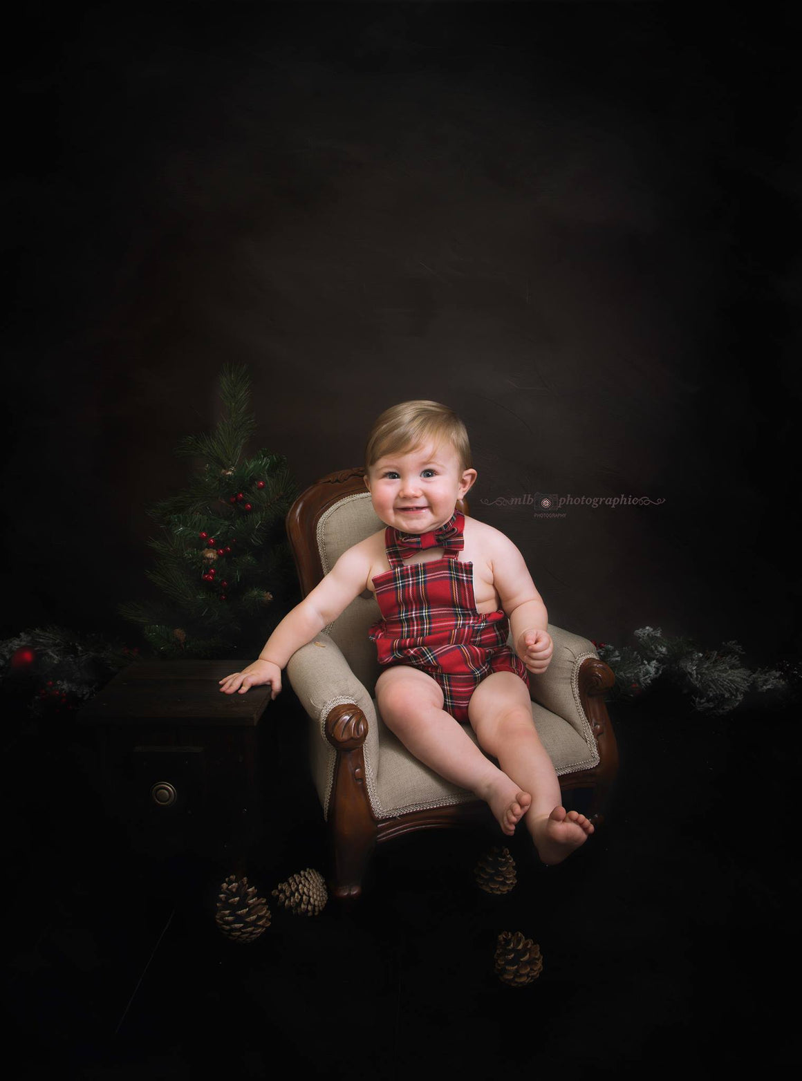 Unisex Red Tartan Romper - Boys - Girls - Coordinating Bunting -Various sizes