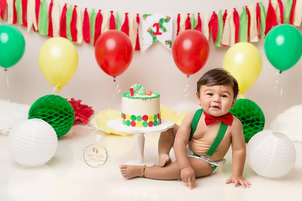 Hungry Caterpillar Outfit - Rag Garlands - 2 Designs - Cake Smash