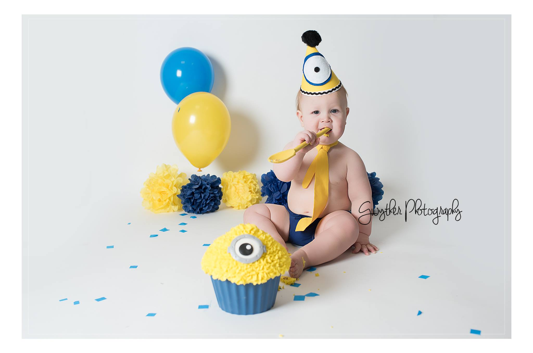 Minion Inspired Cake Smash Outfit Boys